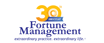 Fortune Management 30th Anniversary logo.
